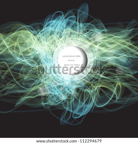 Creative abstract modern vector web design with colorful smoke pattern - stock vector