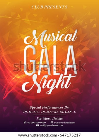Creative abstract party flyer musical gala stock vector 647175217 creative abstract or party flyer for musical gala night with nice and creative design illustration stopboris