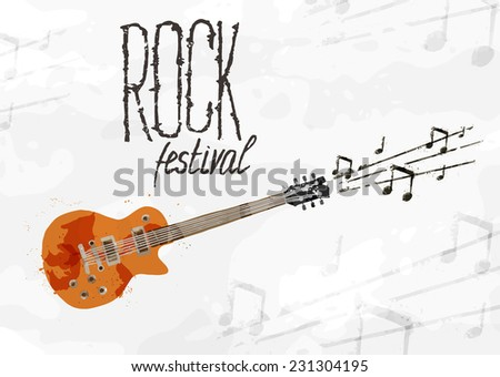 Creative abstract poster rock festival - stock vector