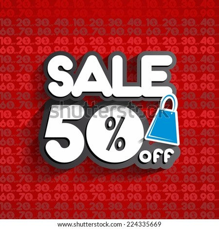 Creative Abstract Sale Design On Background vector illustration - stock vector