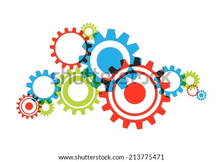 Creative Abstract Transparent Cog Wheels vector illustration - stock vector