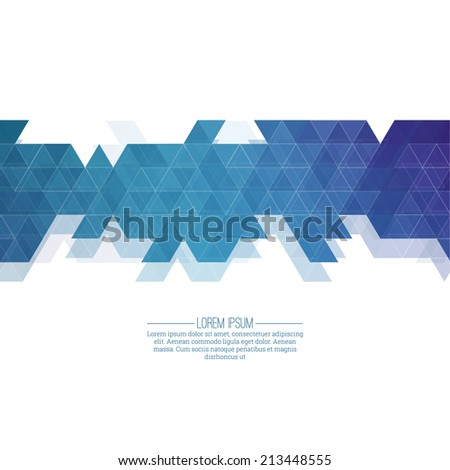 Creative abstract triangle pattern. Polygonal mosaic  background. Hipster cover colorful, vibrant. For packaging, fabric, decoration, websites, printing, booklet, flyer, banner,  mobile app - stock vector