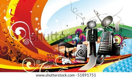 creative abstract vector illustration - stock vector