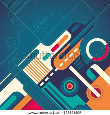 Creative abstraction.Vector illustration. - stock vector