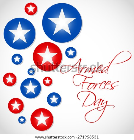 Creative and beautiful abstract for Armed Forces Day with nice and creative US Theme based stars in a white colour background. - stock vector