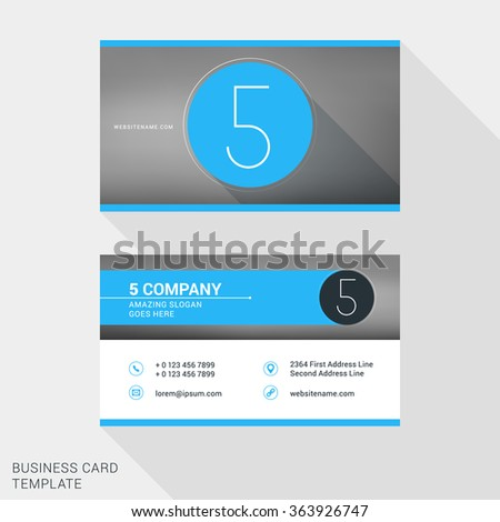 creative clean business card name badge stock vector 363926747