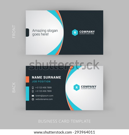Creative and Clean Vector Business Card Template - stock vector