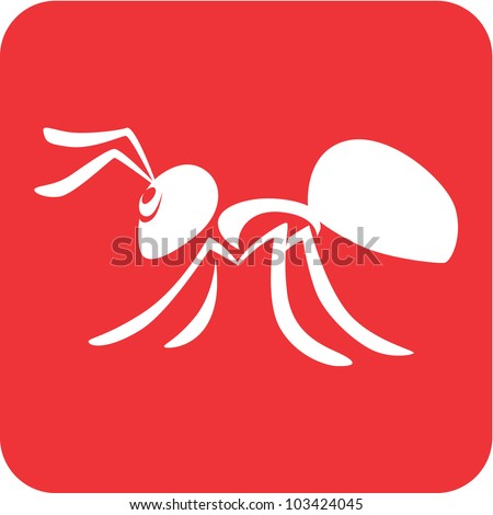 Creative Ant Illustration - stock vector