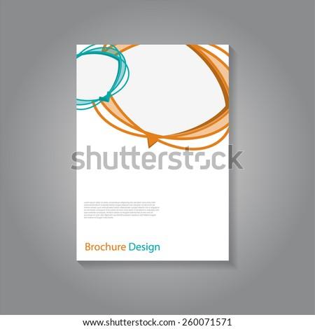 Creative artistic speech bubbles brochure / flyer design, eps10 Vector. - stock vector