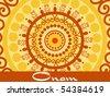 creative artwork pattern background for onam celebration - stock vector