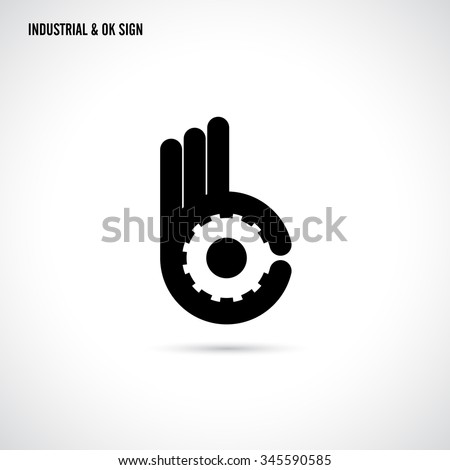 Creative B letter icon abstract logo design vector template. Letter B fingers vector sign.Hand Ok symbol icon.Corporate business and industrial creative logotype symbol. Vector illustration - stock vector