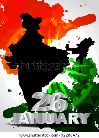 Creative background for Republic Day. - stock vector