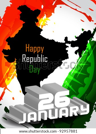 Creative background for Republic Day. Vector illustration - stock vector