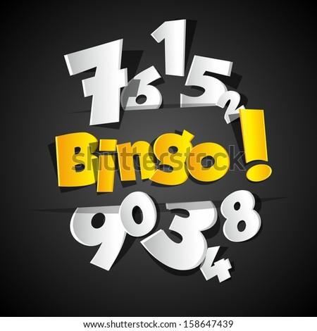 Creative Bingo vector illustration - stock vector