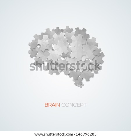 Creative brain concept background. Vector illustration. - stock vector
