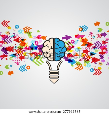 Creative brain Idea - stock vector