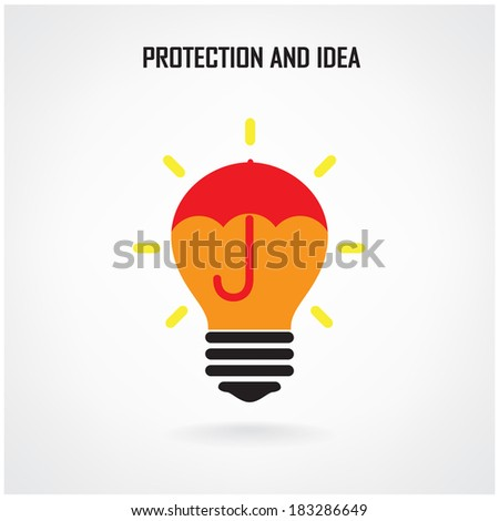 Creative brain Idea concept background design for poster flyer cover brochure ,business dea ,abstract background.vector illustration contains gradient mesh - stock vector