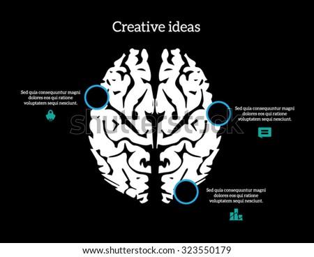 Creative brain Idea concept infographic - stock vector