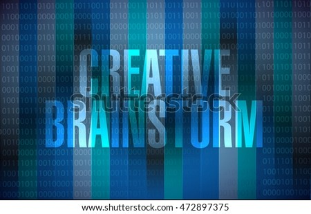 Creative Brainstorm binary background sign concept illustration design graphic
