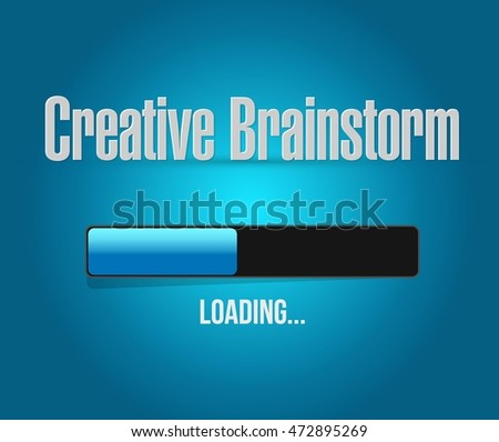 Creative Brainstorm loading graph sign concept illustration design graphic