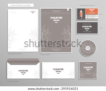 Creative brand template for your design. Vector eps 10 - stock vector