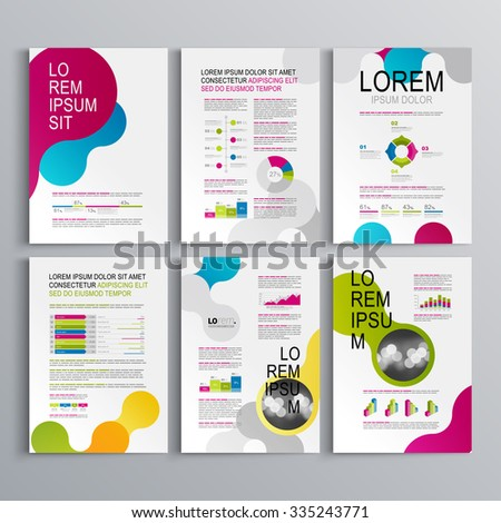 creative brochure design templates - business vector brochure template layout cover stock