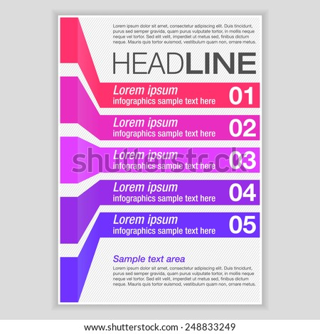 Creative Brochure Template Design with infographic chart. Abstract  Vector Flyer, Pamphlet, Leaflet layout for marketing, advertising and Flat style web site banners, Posters, Placards. - stock vector
