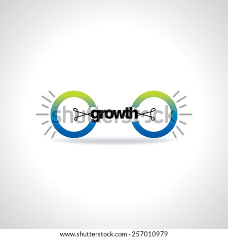 creative bulb connecting growth idea concept - stock vector