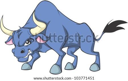 Creative Bull Illustration - stock vector