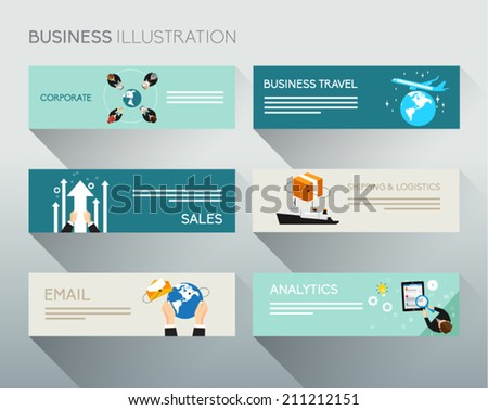 Creative Business And Office Banner Conceptual Vector Design