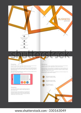 Creative Business Brochure, Flyer, Banner or Template with smartphone. - stock vector