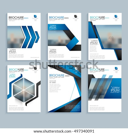 Creative Business Brochure Set Corporate Template Stock Vector