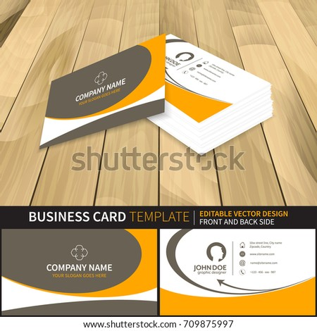 Creative Business Card Mockup Template Vector Stock Vector - Business card preview template