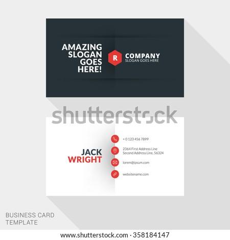 Creative business card print template flat stock vector 2018 creative business card print template flat design vector illustration stationery design colourmoves