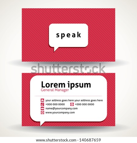 creative business card template - stock vector