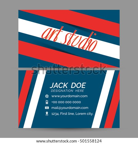 Creative business card templates creative design stock vector creative business card templates with creative design illustration accmission Image collections