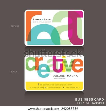 Creative Business cards Design Template - stock vector