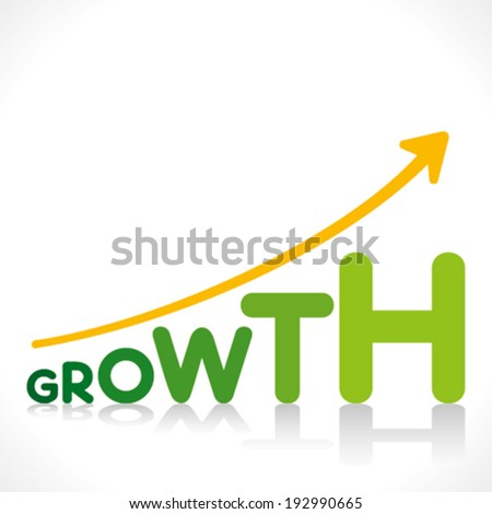 creative business growth graphics design with growth word design concept vector - stock vector