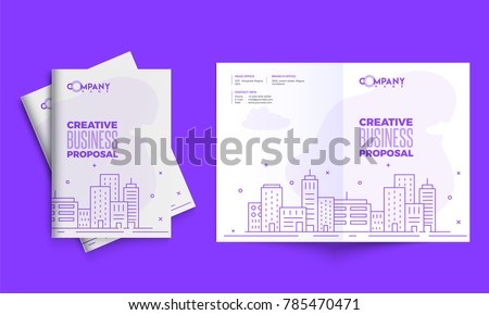 Creative Business Proposal Design Corporate Template Stock Vector