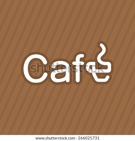 Creative cafe logotype with modified coffe cup - stock vector