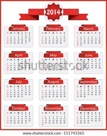 november 2014 calendar editable calendar 2010 stock vector 35238190 shutterstock