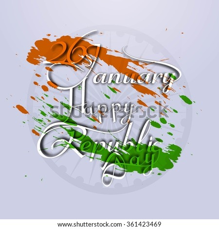 Creative card of Happy Republic day vector design - stock vector