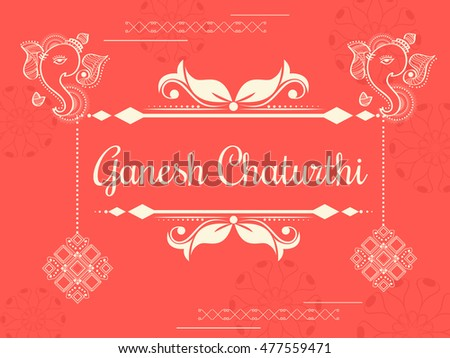 Creative card,poster or banner for festival of ganesh chaturthi celebration.