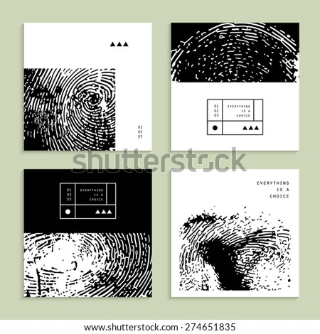 Creative cards. Unusual backgrounds. Vector. Isolated - stock vector