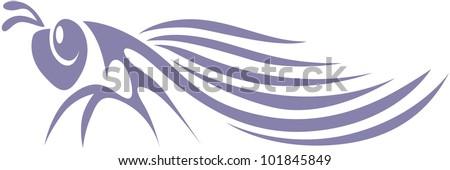 Creative Cicada Illustration - stock vector