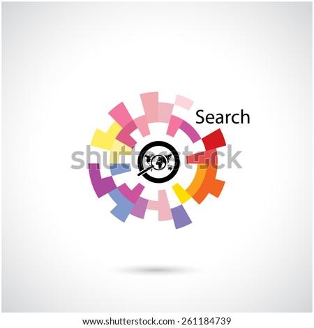Creative circle abstract vector logo design template. Corporate business technology creative logotype symbol.Vector illustration - stock vector