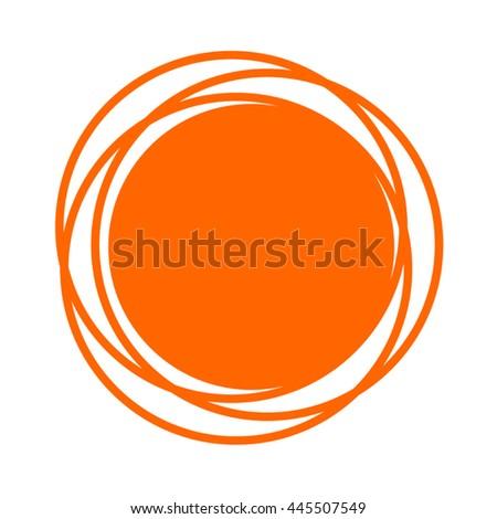 creative circle symbol - stock vector