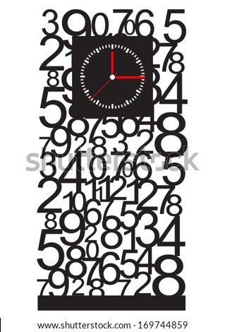 Creative clock design. - stock vector