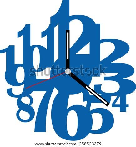 Creative clock design. - stock vector