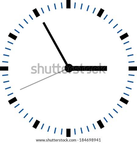 Creative clock face design. - stock vector